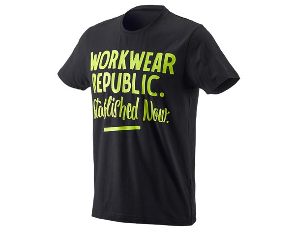 Shirts & Co.: e.s. T-Shirt workwear republic + schwarz/warngelb