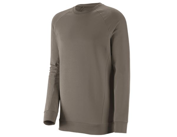 Bovenkleding: e.s. Sweatshirt cotton stretch, long fit + steen