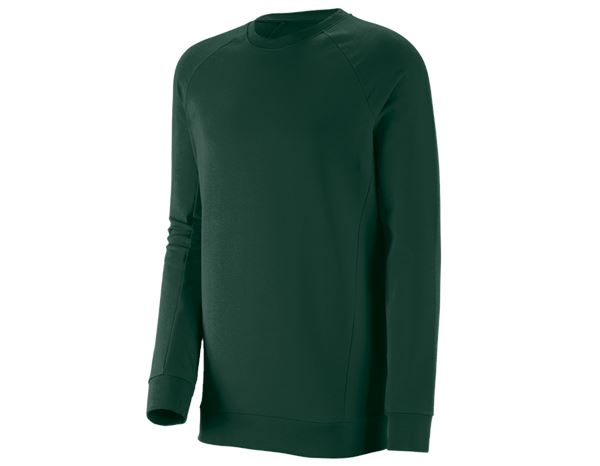 Bovenkleding: e.s. Sweatshirt cotton stretch, long fit + groen