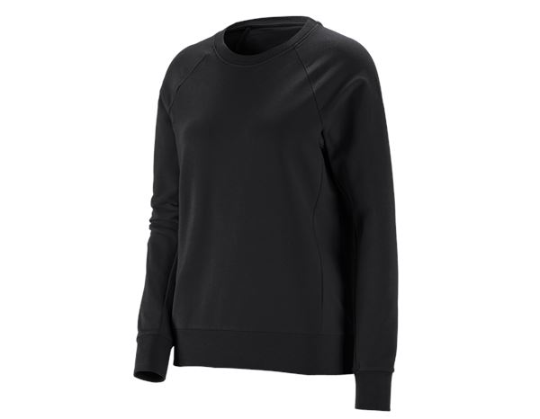 Bovenkleding: e.s. Sweatshirt cotton stretch, dames + zwart