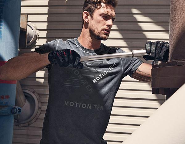 T Shirt e.s.motion ten oxidezwart vintage | engelbert strauss
