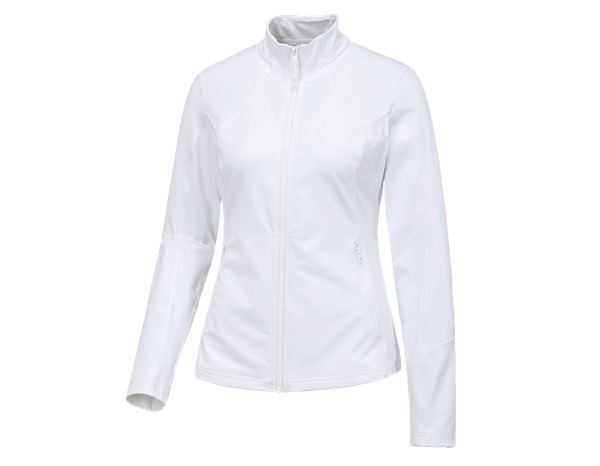Jacken: e.s. Funktions Sweatjacke solid, Damen + weiß