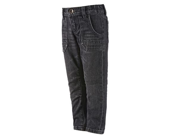 Pantalons / Shorts: e.s. Jeans POWERdenim, enfants + blackwashed