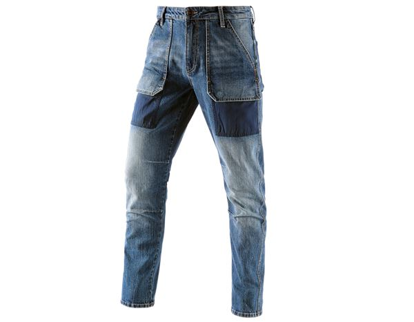 Werkbroeken: e.s. 7- pocket-jeans POWERdenim + stonewashed