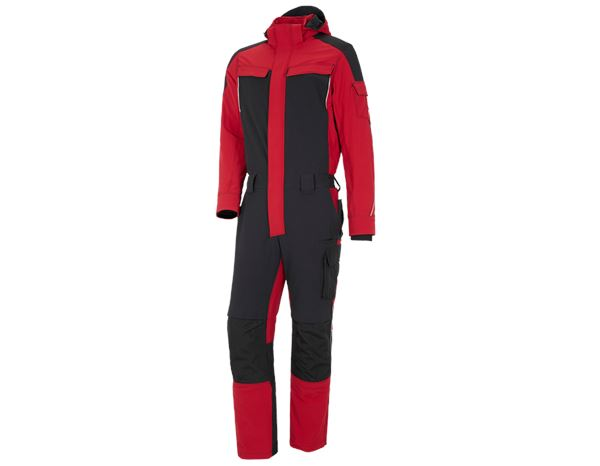 Overalls: Functioneel overall snow e.s.dynashield + vuurrood/zwart