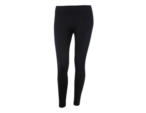 Funktionsunterwäsche: e.s. Funktions-Long Pants seamless - warm, Damen + schwarz/enzianblau