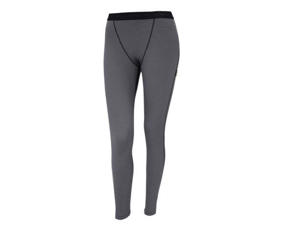Funktionsunterwäsche: e.s. Long-Pants Merino, Damen + zement/graphit